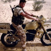 Desert Biking – Motorcycles are used to scout ahead for signs of the enemy and prove the route for the Pinkies.