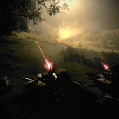 Night Attack - General Purpose Machine Guns use tracer ammunition to illuminate enemy targets and indicate their positions.